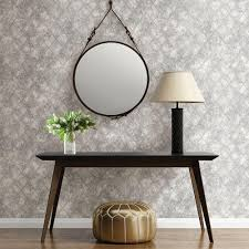 Silver Metallic Wallpaper by Brewster Silver Mercury Glass Distressed Metallic Wallpaper 2701