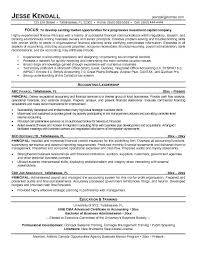 Example Finance Resume by Free Finance Partner Resume Example