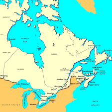 map of east canada east of canada map major tourist attractions maps