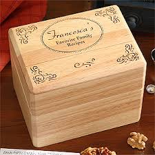 engravable box engraved wooden recipe box and cards family favorites for the home