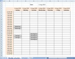 weekly scheduler sogol co
