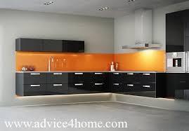 orange kitchen design orange modular kitchen design