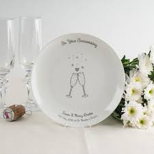 personalized china plates personalised bone china plate on your anniversary