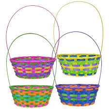 easter basket bulk pastel woven bamboo easter baskets at dollartree