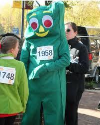 Gumby Pokey Halloween Costumes Gumby Runner Race Costumes