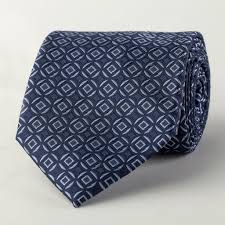 wide tie blue diamond matrix squares encircling italian style wide tie