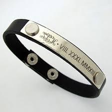 mens personalized bracelet personalized id mens bracelet custom mens leather