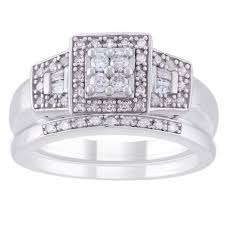 bridal ring set always and forever platinaire 1 3 carat t w diamond bridal ring