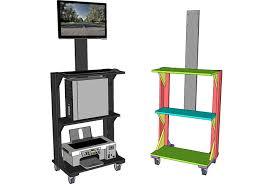 Computer Stands For Desks Mobile Stand Up Computer Desk Plan Jays Custom Creations Stands