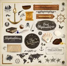 scrapbooking kit marine holiday elements collection ship map