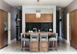 breakfast bar decorating ideas kitchen contemporary with black