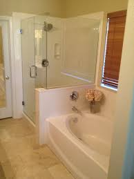 bathroom design interesting doorless shower with cultured marble
