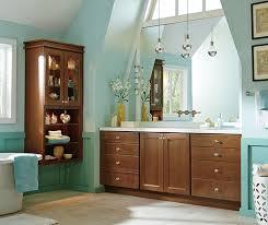 Cherry Bathroom Vanity Cabinets Cherry Cabinets In A Casual Bathroom Homecrest Bathroom
