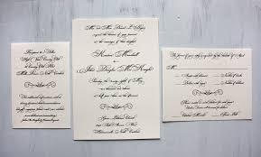 Formal Wedding Invitations Black U0026 Cream Formal Script U0026 Scroll Wedding Invitations