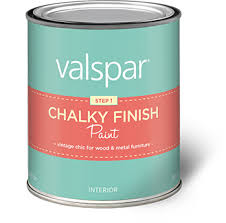valspar chalky paint finish