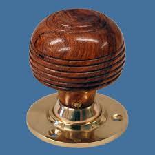 cottage wooden door knob set brown the ceramic store