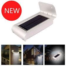 solar powered sensor security light solar powered garden lights 16 led motion sensor detector outdoor