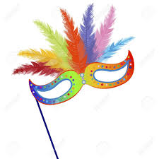 mardi mask colored mardi grass mask with feathers royalty free cliparts