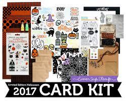 halloween stamp nichol spohr llc simon says stamp creepy cute halloween card kit
