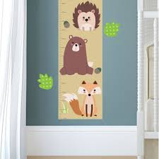 new large woodland animal nursery wall stickers featuring owls and