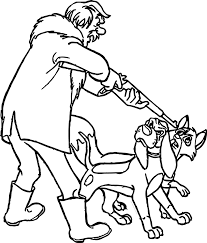 todd the fox dangerous cartoon coloring page wecoloringpage