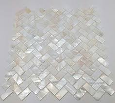 genuine of pearl oyster herringbone shell mosaic tile for