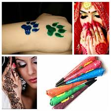 henna makeup aliexpress buy 9 color choose indian henna tattoo paste