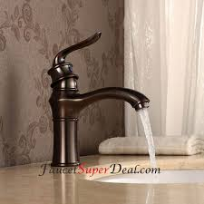 Bronze Faucets Bathroom Sink Antique Oil Rubbed Bronze Finish Single Handle Centerset Bathroom