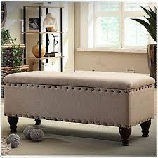 upholstered storage entryway bedroom bench ottoman seat trim