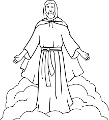 black and white drawings of jesus image 2504