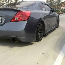 grey nissan altima coupe 2010 2013 nissan altima coupe side splitters ventus autoworks