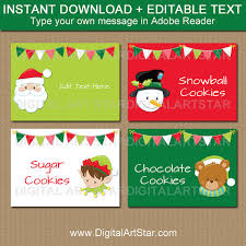 kids christmas labels christmas place cards christmas party