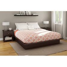 Wood Panel Bed Frame by Amazon Com South Shore Step One Platform Bed With Mouldings King