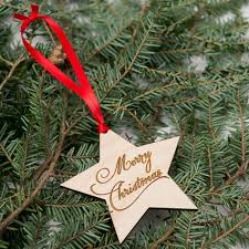 merry christmas wooden star shape embellishments plain wood crafts