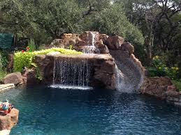 Precision Pools Houston by Moss Rock Pool Waterfalls Best Waterfall 2017
