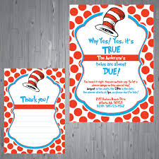 printable dr seuss baby shower invitations baby twins