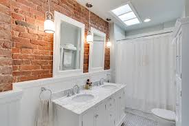 White Tiles For Bathroom Walls - rugged and ravishing 25 bathrooms with brick walls