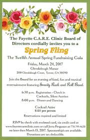 Fundraising Invitation Card Fayette Care Clinic Faycareclinic Twitter