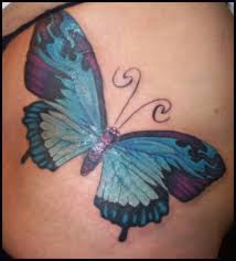 outstanding blue butterfly tattoo design for foot tattooshunter com