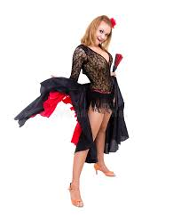 Spanish Dancer Halloween Costume Flamenco Dancer Woman Gypsy Spanish Hand Fan Royalty Free
