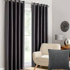 Charcoal Grey Blackout Curtains Luxury Thermal Supersoft Blackout Curtains Pair Eyelet Ring Top