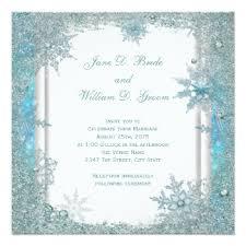 Snowflake Wedding Invitations Snowflake Wedding Invitations U0026 Announcements Zazzle Co Uk