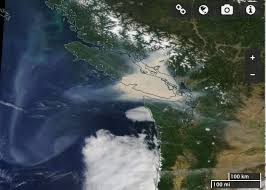 Wildfire Smoke Seattle by Cliff Mass Weather And Climate Blog Huge Plume Of Bc Wildfire