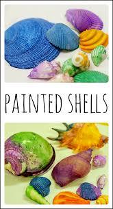 shell painting creates beautiful ocean art for kids