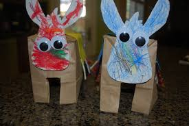 paper bag donkeys donkey crafts for kids mess for less
