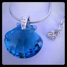 blue shell necklace images Swarovski jewelry shell necklace poshmark jpg