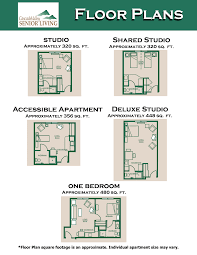 arlington wa senior living floor plans