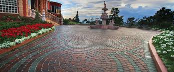 Paver Patio Designs With Fire Pit Plaza Stone Two 960x399 Jpg