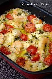 idées de plats à cuisiner scis à l ail feta et tomates cerise au four recettes à