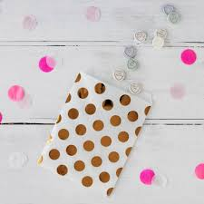treat bags gold foil spotty treat bags and stickers by postbox party